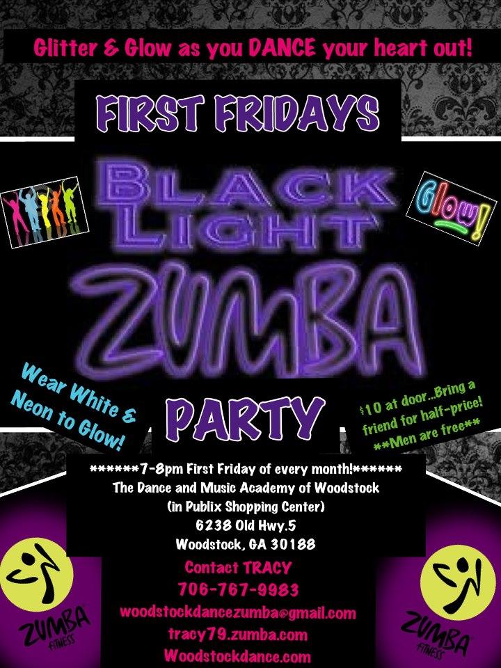 First Fridays Black Light Zumba Party
